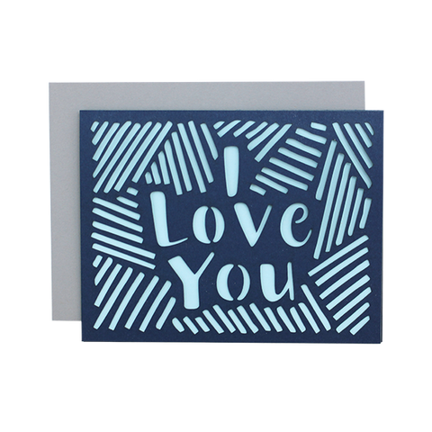 Love Lines Laser Cut Card
