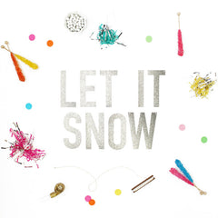 LET IT SNOW Glitter Banner