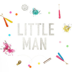 LITTLE MAN Glitter Banner