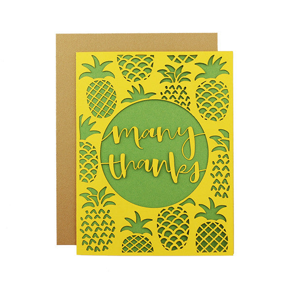 Many Thanks Laser Cut Card