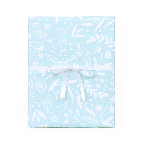 Monochrome Floral Wrapping Paper