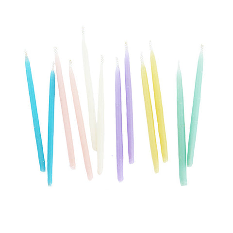 Copy of Hand-dipped Beeswax Birthday Candles - Multicolor Set