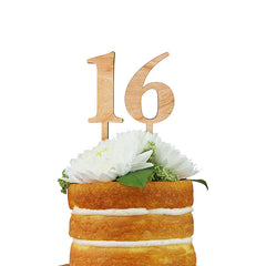 Wood Number Stakes Cake Topper