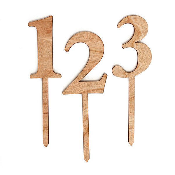 Wood Number Stakes