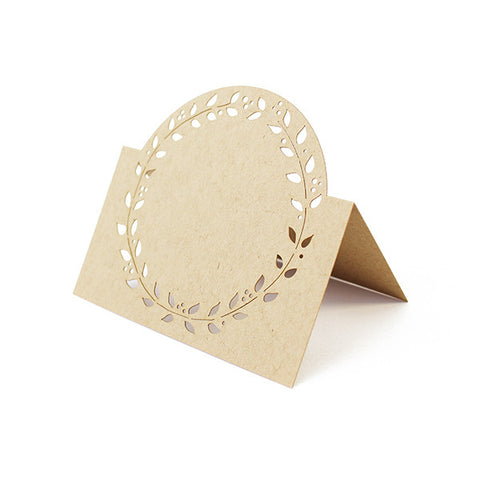 Wreath Laser Cut Place Cards