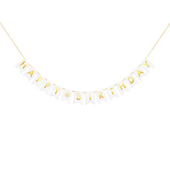 Gold Foil Mini Happy Birthday Banner