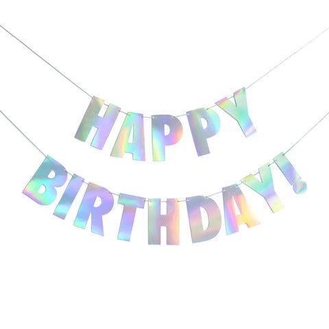 Holographic Foil Happy Birthday! Banner