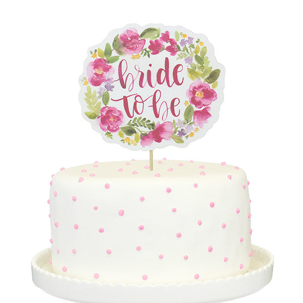 Bride To Be Printed Cake Topper