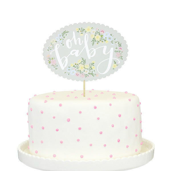 Oh Baby Printed Cake Topper