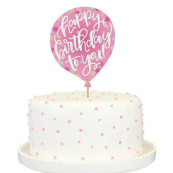 Happy Birthday To You! Printed Cake Topper