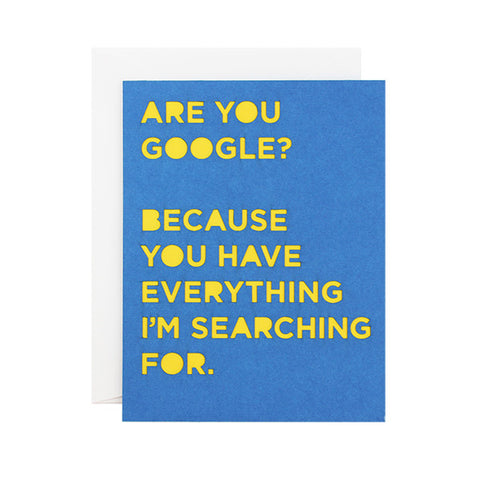 Google Pickup Line Laser Cut Card