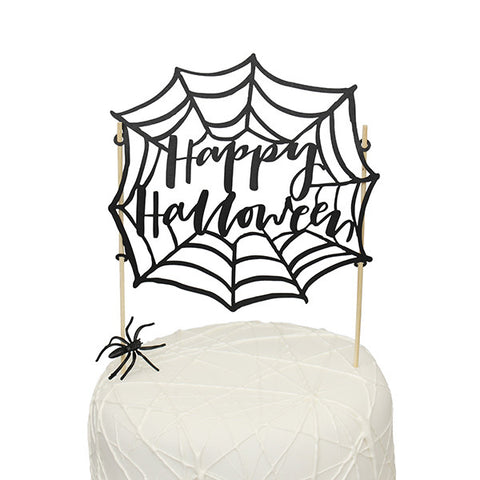 Spiderweb Halloween Cake Topper