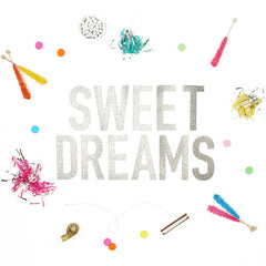 SWEET DREAMS Glitter Banner