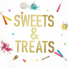 SWEETS & TREATS Glitter Banner