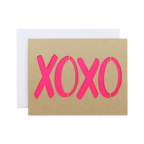 XOXO Laser Cut Card
