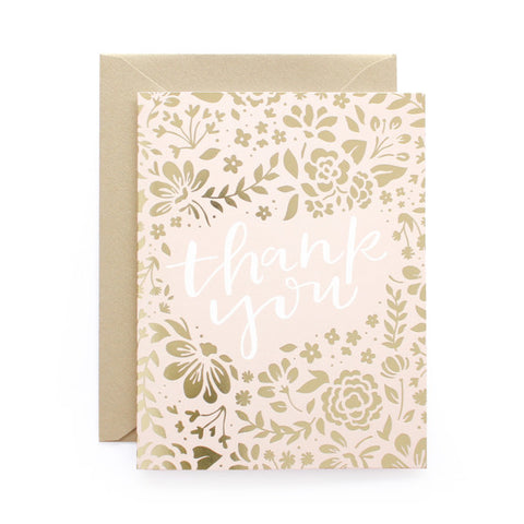 Thank You Floral Foil Card