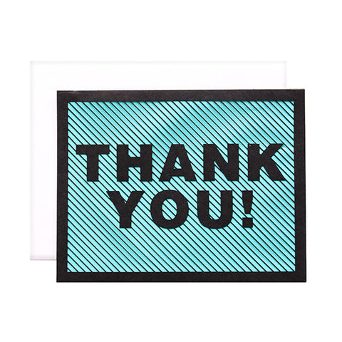 Diagonal Thank You Laser Cut Card