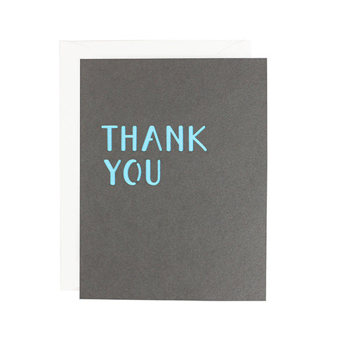 Minimal Thank You Laser Cut Card
