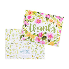 Thanks Floral Card
