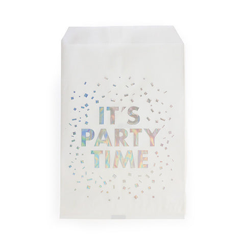 It's Party Time Foil Stamped Treat Bag