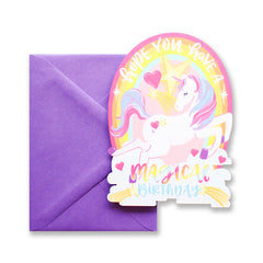 Magical Birthday Unicorn Die Cut Card