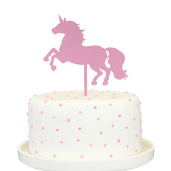 Unicorn Pink Mirror Cake Topper