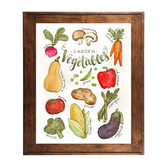 Watercolor Vegetable Art Print