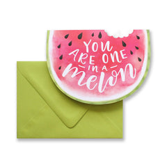 One In A Melon Die Cut Card