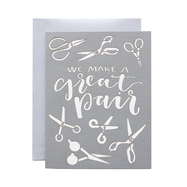 We Make A Great Pair Laser Cut Card