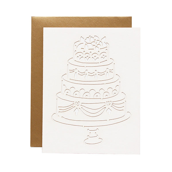 Traditional Cake Laser Cut Card