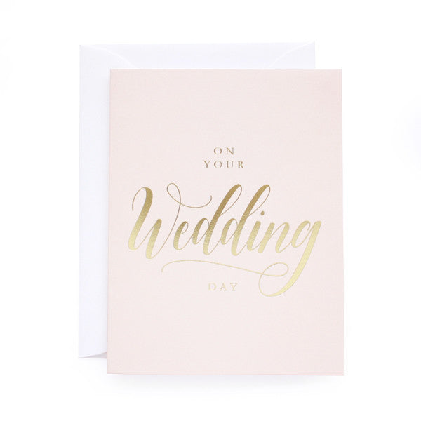 On Your Wedding Day Foil Card