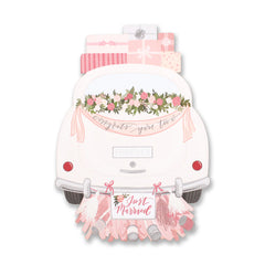 Wedding Car Die Cut Card