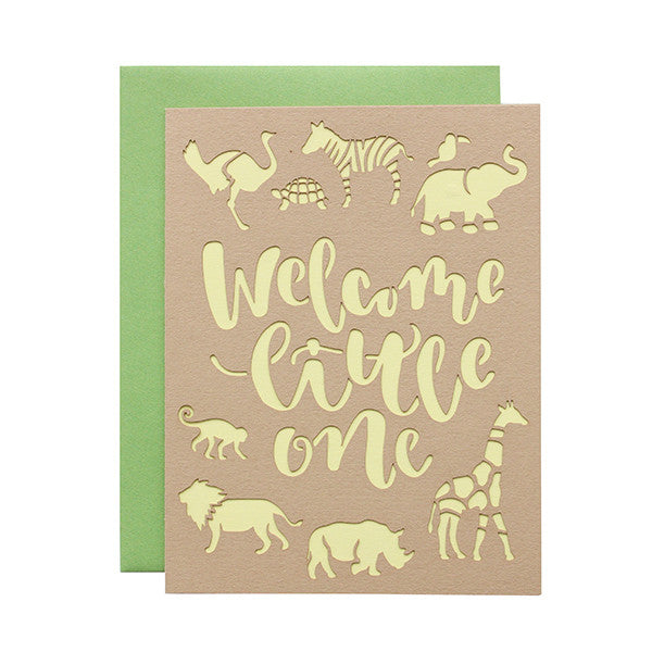 Welcome Little One Laser Cut Card
