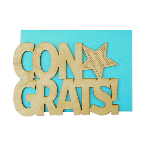 Congrats! Thick Wood Card