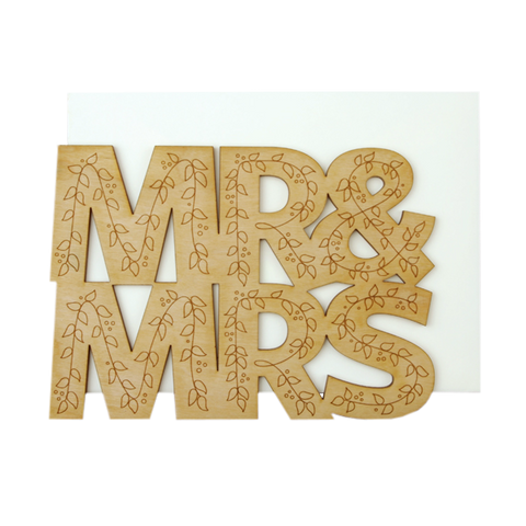 Mr & Mrs Thick Wood Card