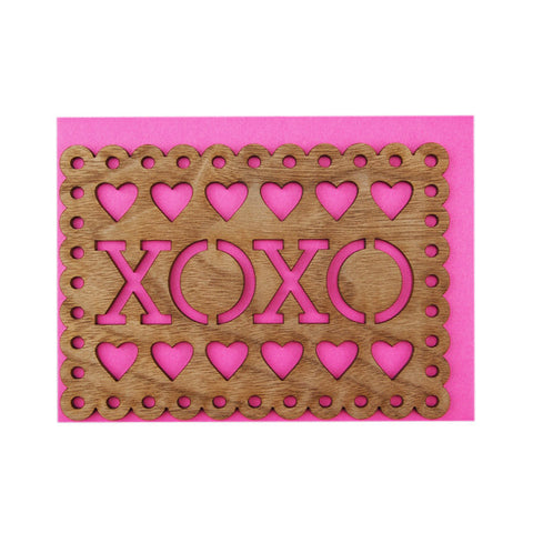 XOXO Thick Wood Card