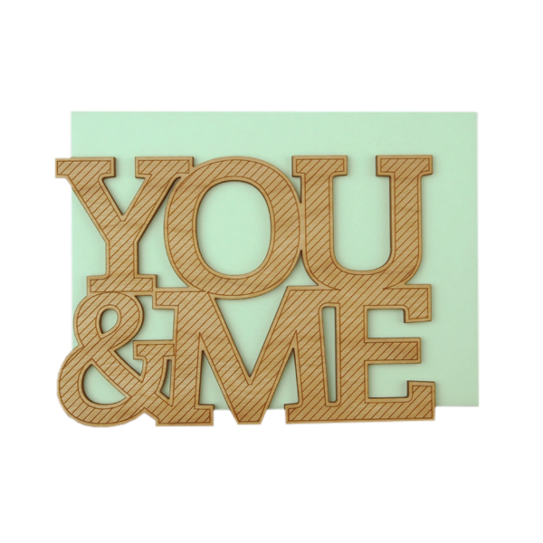 You & Me Thick Wood Card