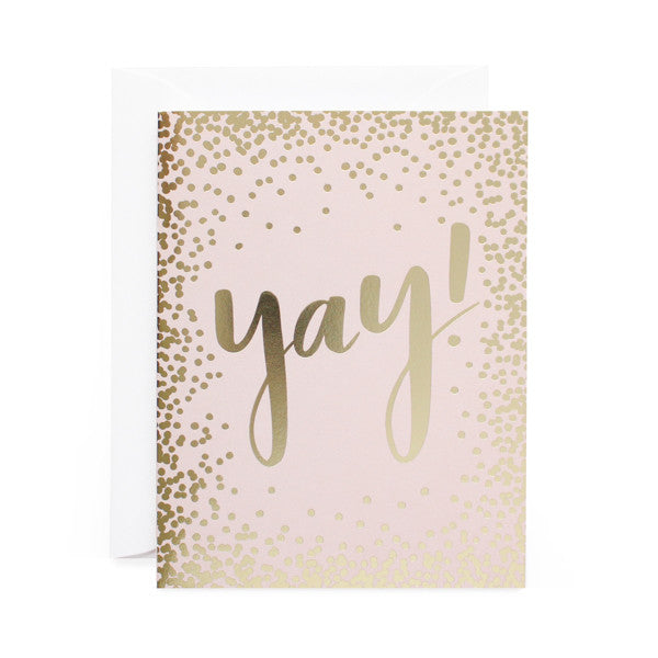 Yay! Polka Dots Foil Card