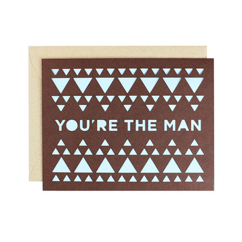 You're The Man Laser Cut Card