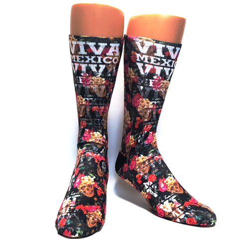 Sugar Skull Rose Socks