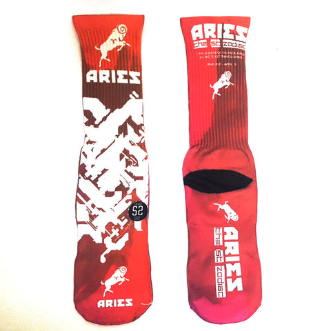 Aries Zodiac Sign Socks