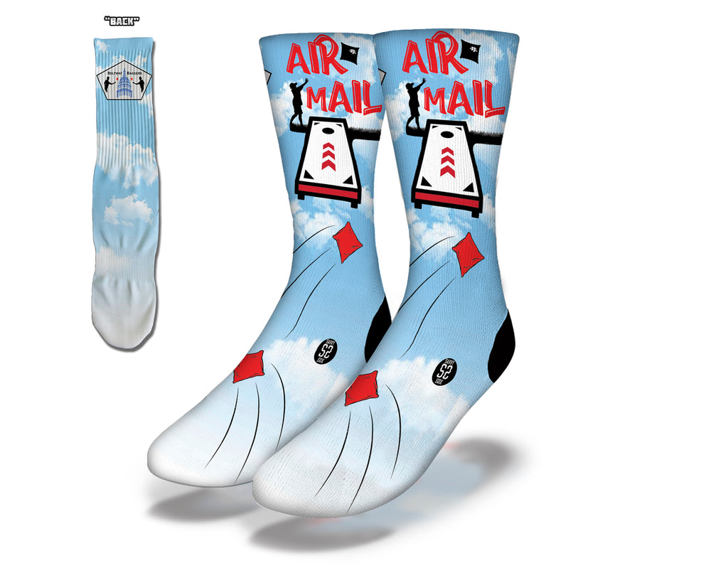 Air Mail Cornhole Socks