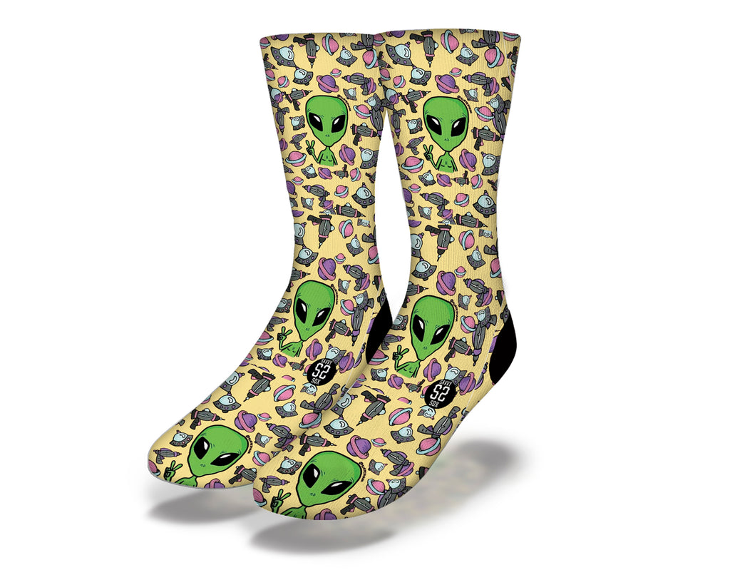 Aliens Watching Us Socks