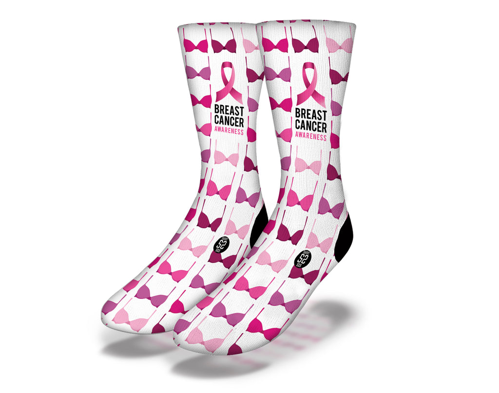 Breast Cancer Awareness 6 Socks