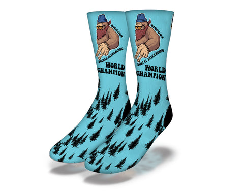 Bigfoot Social Distancing Socks