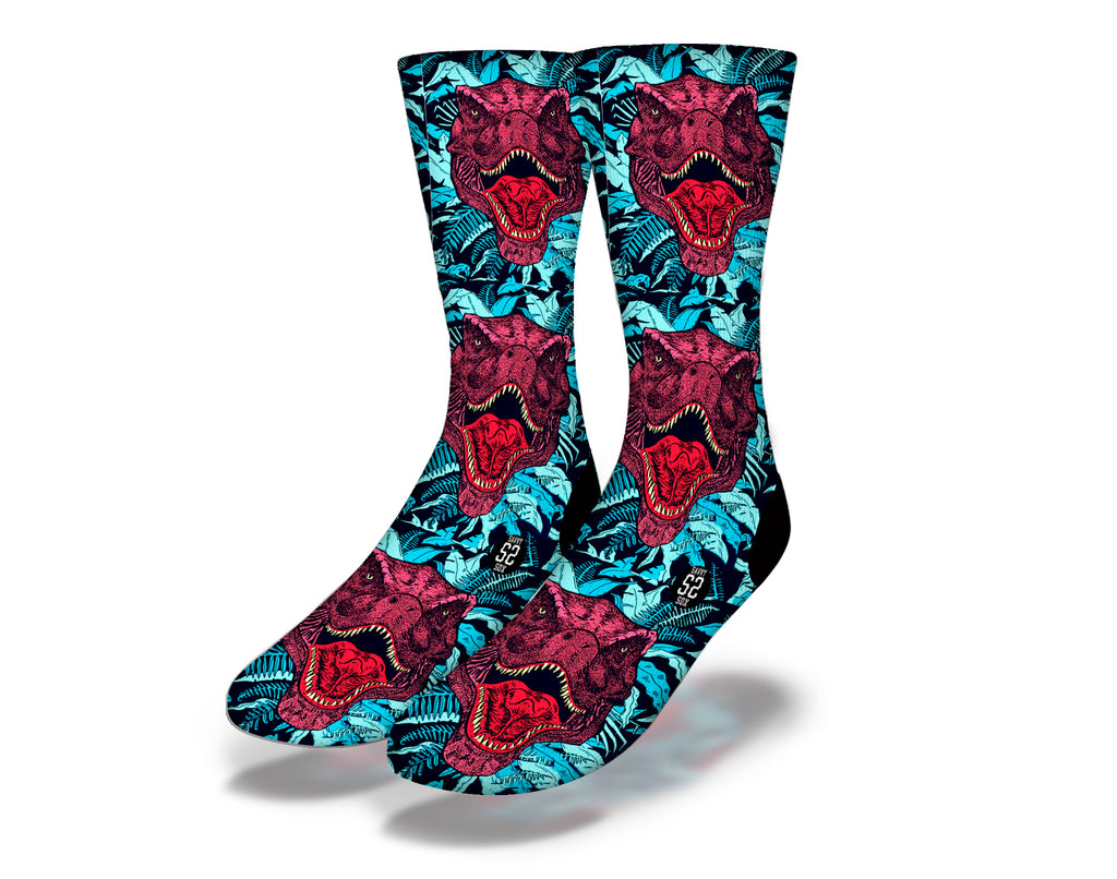 Dinosaur T-Rex Faces Socks