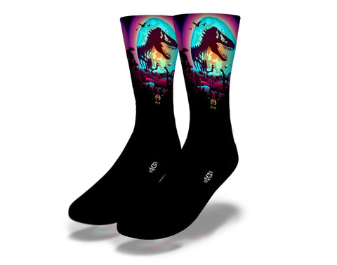 Dinosaur Moon Socks