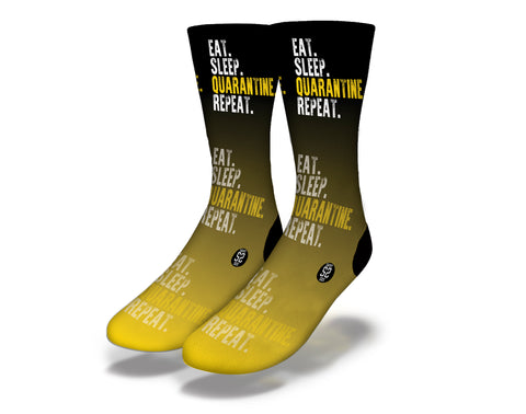 Eat Sleep Quarantine Repeat Socks