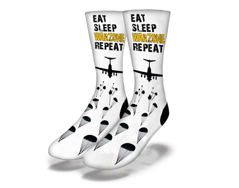 Eat Sleep Warzone Repeat Socks