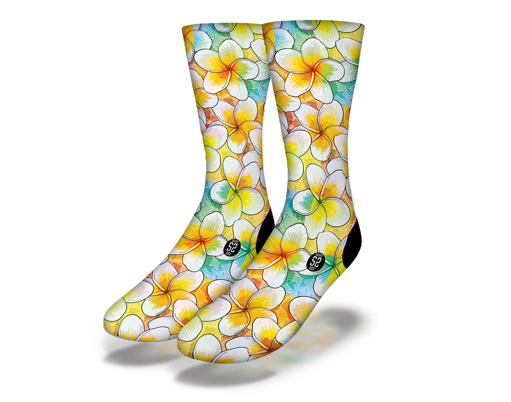 Hawaiian Flowers Theme 1 Socks